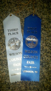 A proud moment for me - my homemade salsa won a blue ribbon in the Wilson County Fair!